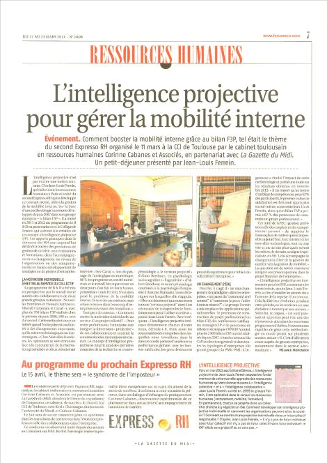 article Gazette du midi mobilité carriere F3P